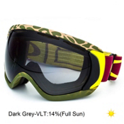Oakley Canopy Goggles 2015, Flight Series Camo Red Yellow-Dark Grey, medium