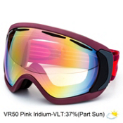 Oakley Canopy Goggles 2015, Burnt Red-Vr50 Pink Iridium, medium