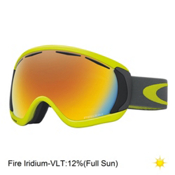 Oakley Canopy Goggles 2017, Citrus Iron-Fire Iridium, medium