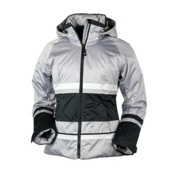 Obermeyer Camille Womens Insulated Ski Jacket, Platinum, medium