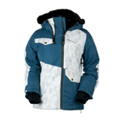 Obermeyer Sara Womens Insulated Ski Jacket, Blue Spruce, medium