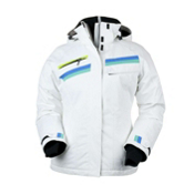 Obermeyer Capri Womens Insulated Ski Jacket, White, medium