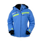 Obermeyer Capri Womens Insulated Ski Jacket, Blue Hawaii, medium