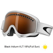 Oakley O Frame and Extra Lens Goggles 2013, Matte White-Black Iridium, medium