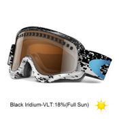 Oakley O Frame and Extra Lens Goggles 2013, Pixel Fade Jewel Bu-Bk Iridium, medium