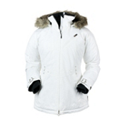 Obermeyer Positano Womens Insulated Ski Jacket, White, medium