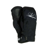 Obermeyer Radiator Womens Mittens, Black, medium