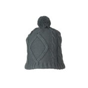 Obermeyer Cable Knit Womens Hat, Basalt, medium