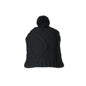 Obermeyer Cable Knit Womens Hat, Black, medium