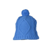 Obermeyer Cable Knit Womens Hat, Blue Hawaii, medium