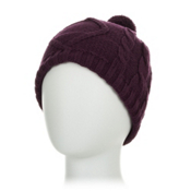Obermeyer Cable Knit Womens Hat, Plum, medium