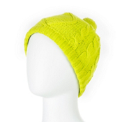 Obermeyer Cable Knit Womens Hat, Lime Punch, medium