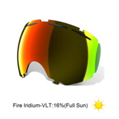 Oakley Canopy Goggle Replacement Lens 2017, Fire Iridium, medium