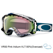 Oakley Crowbar JP Auclair Asian Fit Goggles 2013, Slide Show-Vr50 Pink Iridium, medium