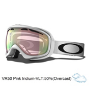Oakley Elevate Asian Fit Womens Goggles 2014, Polished White-Vr50 Pink Iridium, medium