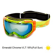 Arnette Mercenary Goggles 2013, Watercolor Citrus-Emerald Chrome, medium