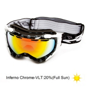 Arnette Mercenary Goggles 2013, Midnight Black Skulls-Inferno, medium