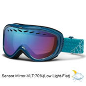 Smith Transit Womens Goggles 2013, Teal-Blue Sensor Mirror, medium