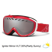 Smith Transit Womens Goggles 2013, Neon Red-Ignitor Mirror, medium