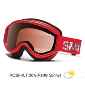 Smith Challenger Kids OTG Goggles 2013, Red Fader-Rc36, medium