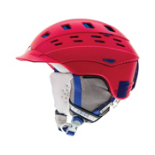 Smith Variant Brim Womens Helmet 2013, Neon Red Typepress, medium