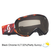 Scott Off-Grid Tom Wallisch Goggles 2013, Black Orange-Black Chrome, medium