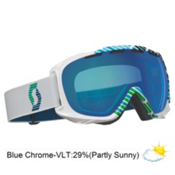 Scott Fix Goggles 2013, Vector White-Blue Chrome, medium