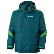 Columbia Whirlibird II Interchange Mens Insulated Ski Jacket, Blue Forest Plaid, medium