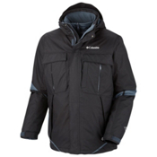 Columbia Bugaboo Interchange Tall Mens Insulated Ski Jacket, Black-Graphite, medium