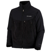 Columbia Heat Elite Lite Fleece Mens Jacket, Black, medium