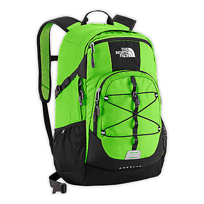 The North Face Heckler Backpack, Glo Green-Tnf Black, large