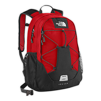 The North Face Jester 27 Backpack, TNF Red-Asphalt Grey, large