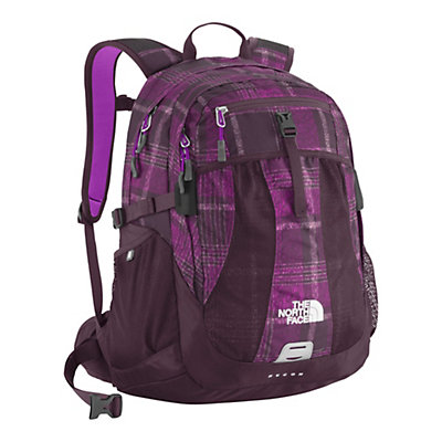 The North Face Recon 28 Womens Backpack, Magic Magenta Distressed Plaid, large