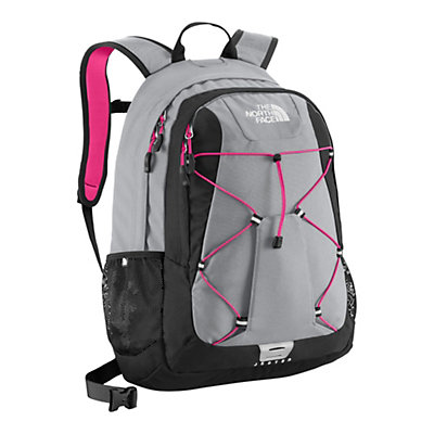 The North Face Womens Jester 27 Backpack, High Rise Grey-TNF Black, large