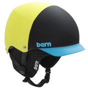 Bern Baker Hard Hat 2013, Matte Neon Yellow Hatstyle-Black, medium