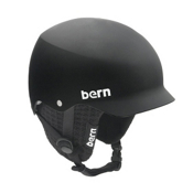 Bern Baker Hard Hat 2013, Matte Black-Black Knit, medium