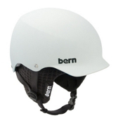 Bern Baker Hard Hat 2013, Matte White-Black Knit, medium