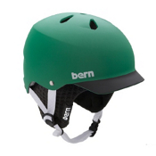 Bern Watts Hard Hat 2013, Matte Green-Black Brim, medium
