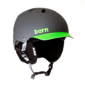 Bern Watts Hard Hat 2013, Matte Grey-Green Brim, medium