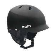Bern Watts Hard Hat 2013, Matte Black-Black Knit, medium