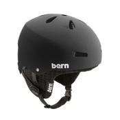 Bern Macon Hard Hat 2013, Matte Black-Black Knit, medium