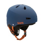 Bern Macon Hard Hat 2013, Matte Blue-Black Knit, medium