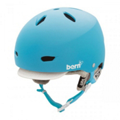 Bern Brighton Womens Hard Hat 2013, Matte Cyan-White Brim-Knit, medium