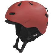 Bern Brentwood Helmet 2013, Matte Red-Black Visor Knit, medium