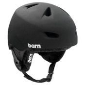 Bern Brentwood Helmet 2013, Matte Black-Black Knit, medium