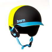 Bern Baker EPS Helmet 2013, Neon Yellow Hatstyle-Knit, medium