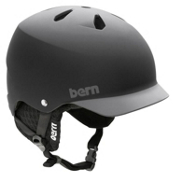 Bern Watts EPS Audio Helmet 2013, Matte Black-Greybrim, medium