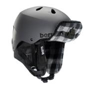 Bern Macon EPS Helmet, Matte Grey-Black Grey Buffalo, medium