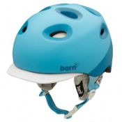 Bern Cougar2 Womens Helmet 2013, Matte Cyan 2tone-Grey Knit, medium