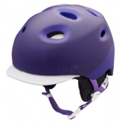 Bern Cougar2 Womens Helmet 2013, Matte Purple 2tone-Black Knit, medium